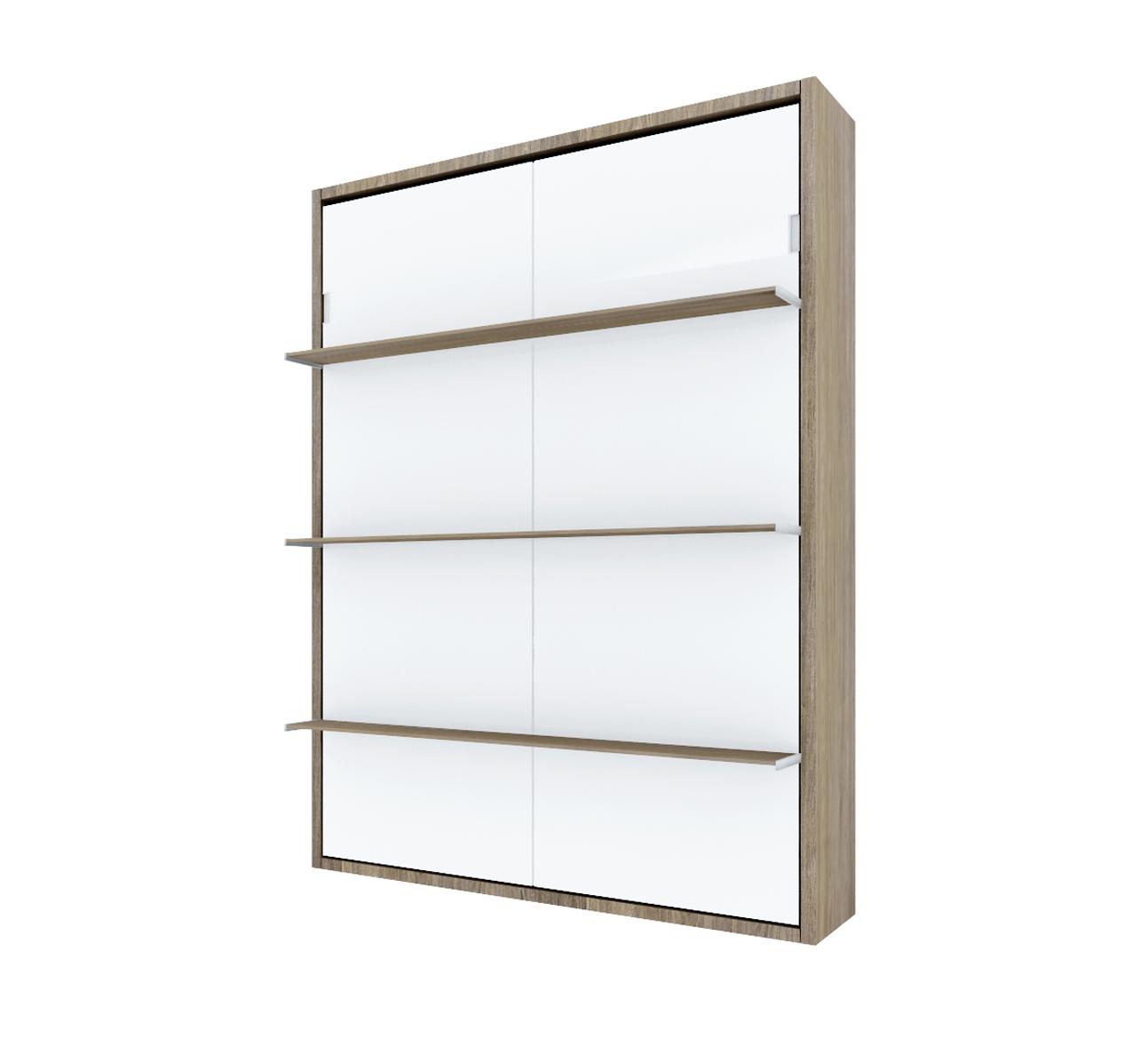Pat rabatabil vertical cu rafturi – SmartBed Book