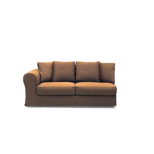 Ara divano2 posti 1bracciolo chiuso