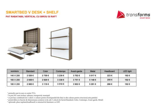 preturi SB V DESK+SHELF-1